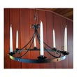 "510.24 - Wrought Iron Chandelier - Tulip - 24"" Round"