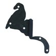 "111.35R-SN - Bird Flag Cabinet Hinge - Right Mount w/ Handforged Swanneck Post - 2 1/8"" Flag x 3 5/8"" Post"