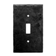 901TS - Forged Iron Switch Cover Plate - 1 Gang Toggle - Flat Black