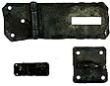 """709.01 - Wrought Iron Small Chest Hasp Latch - 4 1/2"""""""