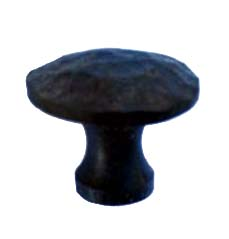 402.SM - Small Arch Profile Turned & Forged Iron Knob (2)