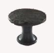 403.BG - Flat Arch Profile Turned & Forged Iron Knob