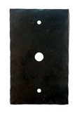 901PHCA - Forged Iron Phone or Cable Cover Plate  with Center Hole